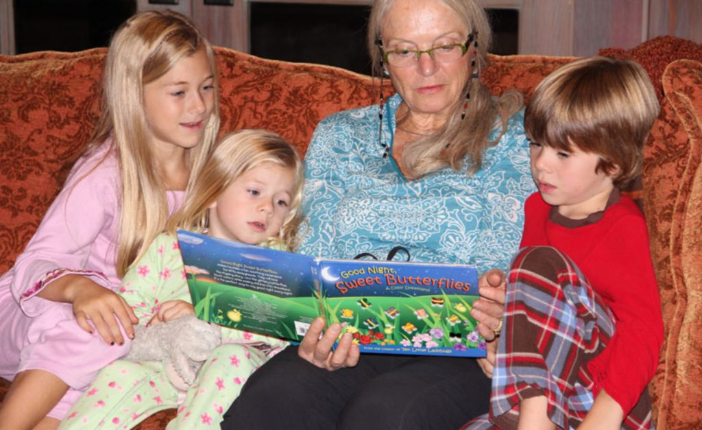 Bedtime stories being read