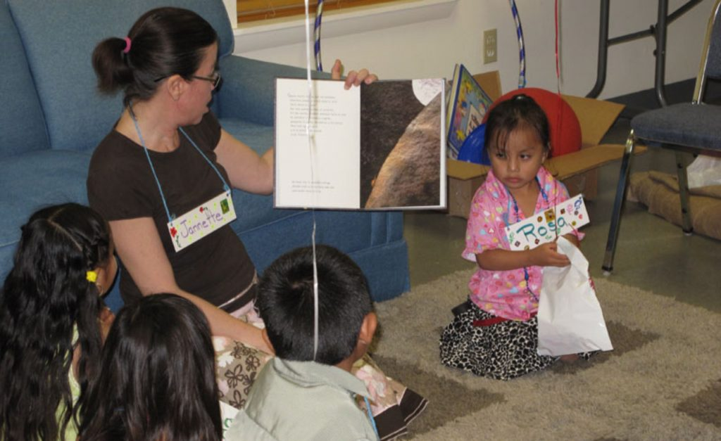 Reading to children in spanish