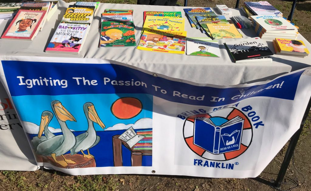 table of books at arbor day